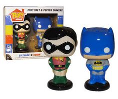 FUNKO POP! Salt Pepper Shakers Batman Robin Legion of Collectors EXCLUSIVE MINT #FunkoPop #batman #robin