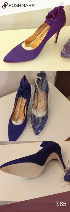 """Pour La Victoria """"Baylie"""" Heel Pour La Victoria """"Baylee"""" Heel in violet/purple Satin material, new, size 8.5m, comes with red original dustbag Pour la Victoire Shoes Heels"""