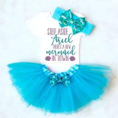 Mermaid Onesie, Baby Girl Clothes, Baby Girl Outfit, Ariel mermaid Outfit, baby girl onesie, mermaid shirt, mermaid outfit, disney shirt