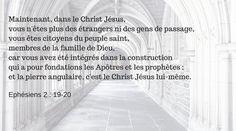 Extrait des lectures du 3 juillet 2015 - Ephésiens 2 : 19-20