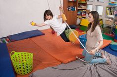 Core co-contraction, target accuracy Gross Motor Activities, Sensory Activities, Therapy Activities, Sensory Integration Therapy, Sensory Therapy, Pediatric Occupational Therapy, Pediatric Ot, Motor Planning, Sensory Rooms