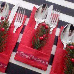 Besteck-Sets für die Weihnachtstafel