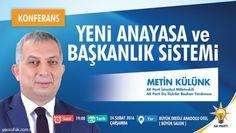 AK PARTİ'DEN 'BAŞKANLIK SİSTEMİ' KONFERANSINA DAVET..