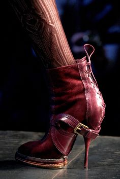 d0ed1fc380 Christian Dior Burgundy Ankle Boots Fall 2010 RTW  Dior  Booties  Shoes  CD