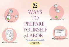 """A great list for pregnant mamas! Breathing exercises, pain management, prenatal yoga, perineal """"massage"""", I've rounded up what ended up being the 25 most useful resources in both of my …"""