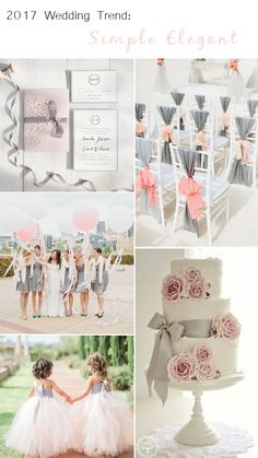 blush pink and gray wedding color ideas for elegant weddings