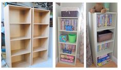 laminate shelves before and after  YES!!!! You can paint laminate, but it requires special primer.