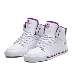 SUPRA WMNS VAIDER | WHITE / PINK / PURPLE - WHITE | Official SUPRA Footwear Site