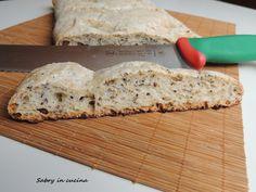 Ciabatta di farro e quinoa - Sabry in cucina Ciabatta, Italian Recipes, Food Porn, Bread, Pizza, Blog, Italian Foods, Breads, Baking