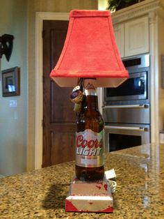 Homemade Beer, Homemade Gifts, Coors Light, Light Beer, Bud Light, Lamp Light, How To Make Beer, How To Make Money, Beer Bottle Lights