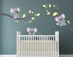 Decorate your kids room or nursery with these fun reusable removable koala bear decals! Childrens Wall Decals, Vinyl Wall Decals, Wall Stickers, Bedroom Wall, Kids Bedroom, Lightning Bolt, Custom Wall, Textured Walls, Houses