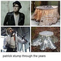 The first time I repinned this, my mom looked where who she friends with notifications and she went up to ne and asked why a tree stump was covered in glitter and that's when I explained to her who Patrick is