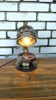 Steampunk Lamp Table Lamp Edison Light Steampunk art