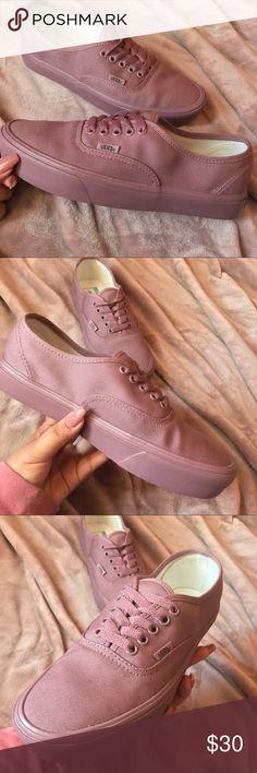 Vans Authentic Lite (Mono) Mauve/Mauve Never been worn. Vans Shoes Sneakers