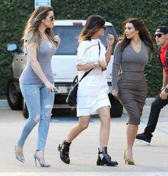 Kim Kardashian, Khloe Kardashian, and Kylie Jenner Out in Los Angeles, California on February 2, 2014