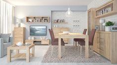 Kaspian Dining room table 180 extending Sonoma oak wenge new flat pack in Home, Furniture & DIY, Furniture, Tables | eBay