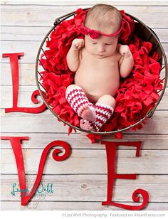 Baby L-O-V-E - Easy DIY Photo Props for Valentine's Day - Compiled by I Heart Faces Photography Blog