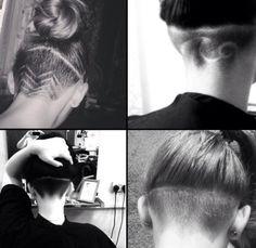 Undercut buzzed woman's hair