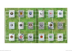 Tennis Court 01. CG print. Photo-collage of tennis court & washing machines