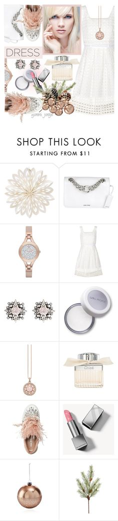 """Perfect Party Dress"" by goreti ❤ liked on Polyvore featuring Cultural Intrigue, Miu Miu, Emporio Armani, Sea, New York, DANNIJO, Thomas Sabo, Chloé, Burberry, Bloomingdale's and partydress"