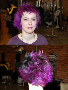 purple hair jezz by wip-hairport, via Flickr