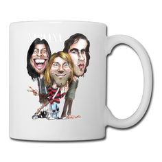 Cool Nirvana Ceramic Coffee Mug, Tea Cup | Best Gift For Men, Women And Kids - 13.5 Oz, White ** New and awesome product awaits you, Read it now  : Coffee Cups and Mugs