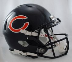 NFL Riddell Chicago Bears Revolution Speed Full-Size Authentic Football Helmet Spoil your inner fanatic and be the envy of all your friends when you display Chicago Bears Helmet, Nfl Bears, Bears Football, Nfl Chicago Bears, Football Helmets, Football Baby, Chicago Football, Chicago Illinois, Football Season