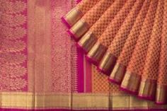 Kanchipuram sari: Famous for hand woven heavy silk and gold cloth