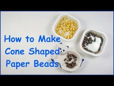 How to Make a Paper Bead Tree Top Star - YouTube