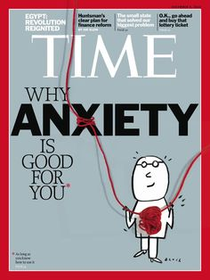 Time magazine. Includes a variety of mediums - realistic string combined with pencil or computer generated illustration. Again using the red as a dominant colour, highlighting important details. has used anxiety very bold perhaps to intrigue the audience with the most important word. Basic illustration, almost childlike? perhapse hand done illustration makes the audience feel more personal?