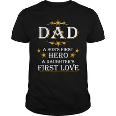Get yours nice Dad Gift Tee A Sons First Hero Shirts & Hoodies.  #gift, #idea, #photo, #image, #hoodie, #shirt, #christmas