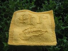 Harry Potter dishcloth and more at this site.  I'm going to make this as soon as I get home to my knitting supplies!