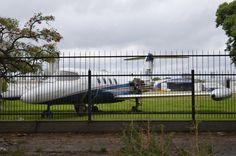LV-ZZF Learjet 35 abandonado sin sus motores a un costado del aeroparque metropolitano