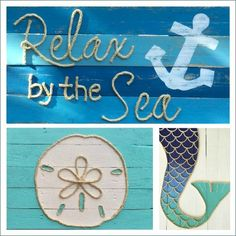 Pallet Wood Rope Art: http://www.completely-coastal.com/2015/11/best-coastal-etsy-handmade-decor-usa.html Handmade from Reclaimed Pallet Wood! Listed BEST of COASTAL ETSY.