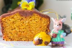Decadent but yet simply to execute carrot cake with chamomile and honey covered in a delicious chocolate glazing.