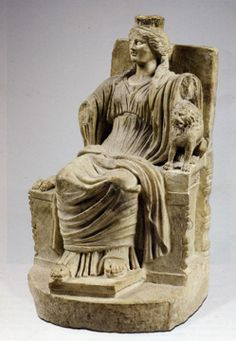 Kybele, marble, Roman Imperial, circa 1st Century A.D.