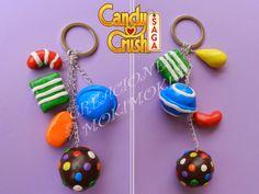 Llavero Candy Crush hecho de fimo