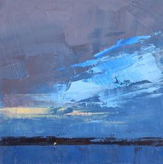 Judy Friday, Single Light. I love these simple shapes made with the palette knife! #abstractart