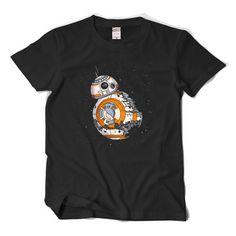 2017 Star Wars BB-8 Men T shirt Games Fans Tee Shirt Homme Short Sleeve O-neck Cotton 2XL Fashion Cosplay Lovers Summer T Shirt