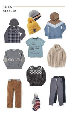 boys Winter capsule wardrobe