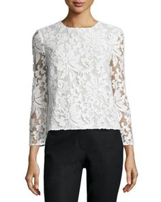 DIANE VON FURSTENBERG Belle Sequined Floral Top White $345 (Compare elsewhere at $400) - - - WE ARE LOCATED AT *THE TRUMP BUILDING* ON WALL ST. IN NYC - ORDER PICK UP OR FREE DELIVERY WORLDWIDE - - - SHOP OUR OFFICIAL WEBSITE: annesOFnewyork.com