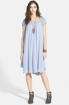 Free People 'Sun Dancer' Crinkled Chiffon Dress available at #Nordstrom