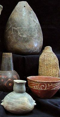 Ancient Caddo potters created an extraordinary variety of pottery vessels from huge storage jars over three feet high to tiny bowls probably made for children. These examples are from the TARL collections. Photograph by Sharon Mitchell.