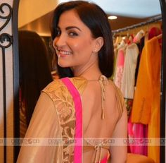 Elli Avram Wearing Mandira Bedi Saree