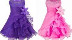 How to make latest quinceanera ruffled organza party wear with rhineston...