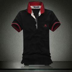 de nouveaux styles venant Hommes s Burberry Noir Shirts mshirt075 Pas cher  Polo Tee Shirts, Cheap 51e2ce8d310