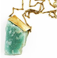 raw gem mineral pendant necklace