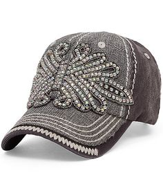 28 Best bling baseball denim rhinestone caps images  5cb21b815ea2