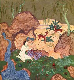 Edmund Dulac illustration, Au Royaume de la Perle, 1920.
