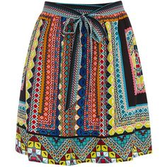 Warehouse Placement Print Tribal Skirt, Multi (140 GTQ) ❤ liked on Polyvore featuring skirts, mini skirts, bottoms, saias, print skirt, short mini skirts, tribal skirt, jersey skirt and tribal mini skirt